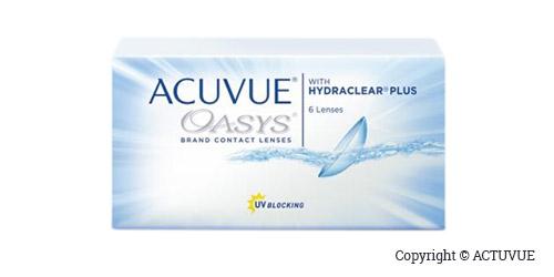 Boite de lentilles Acuvue Oasys - boite de six lentilles bi-mensuelles.