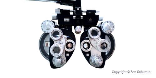 tête de réfracteur, outil pour effectuer des examens de vue