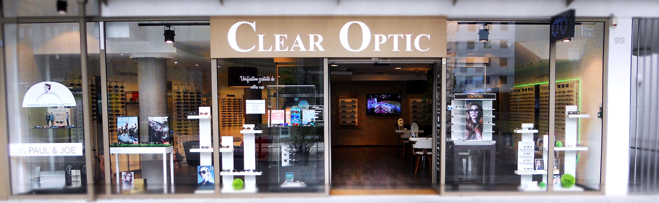 devanture clear optic